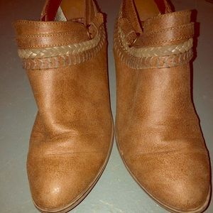 Sugar Tan Ankle Boots Size 10